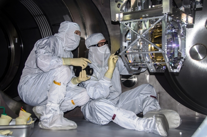 Inspection of LIGO optical systems.