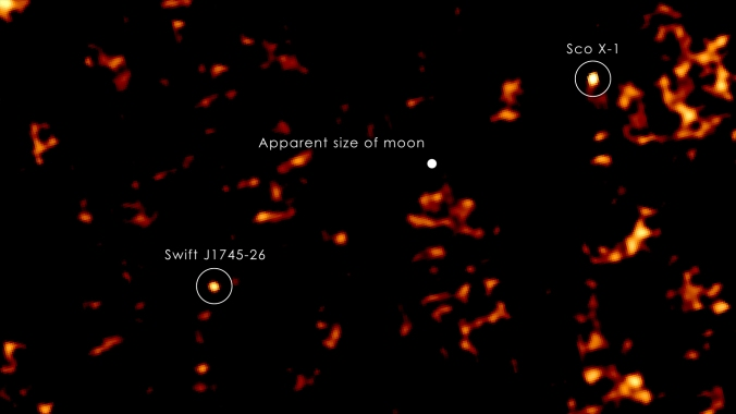 X-ray image of Scorpius X-1