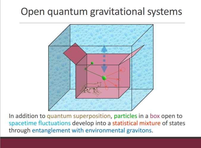 Open quantum gravitational systems