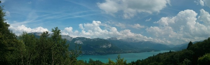 Looking east across Lake Annecy, France
