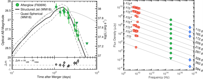 Optical, radio and X-ray observations of GW170817's afterglow